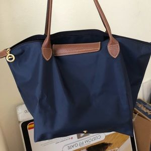 Longchamp tote bag navy
